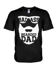 Badass beared dad V-Neck T-Shirt thumbnail