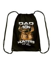 dad and son hunter for life Drawstring Bag thumbnail