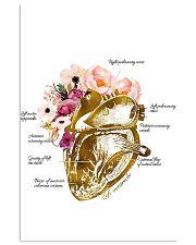 Heart Nurse Floral 24x36 Poster front