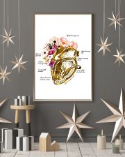 Heart Nurse Floral 24x36 Poster lifestyle-holiday-poster-1