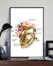 Heart Nurse Floral 24x36 Poster lifestyle-poster-2