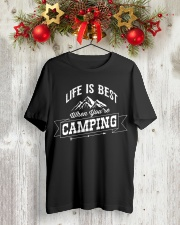 Life is best when you're camping Classic T-Shirt lifestyle-holiday-crewneck-front-2