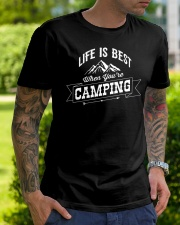 Life is best when you're camping Classic T-Shirt lifestyle-mens-crewneck-front-7