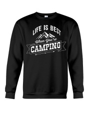 Life is best when you're camping Crewneck Sweatshirt thumbnail