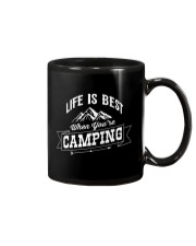 Life is best when you're camping Mug thumbnail