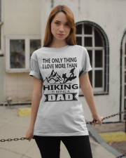 Hiking is being a dad Classic T-Shirt apparel-classic-tshirt-lifestyle-19