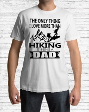 Hiking is being a dad Classic T-Shirt lifestyle-mens-crewneck-front-1