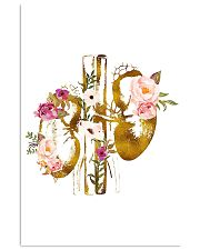 Kidney Anatomy floral 24x36 Poster front