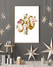 Kidney Anatomy floral 24x36 Poster lifestyle-holiday-poster-1