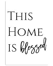 This home is blessed 24x36 Poster front