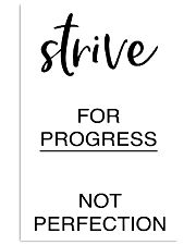 Strive for progress not perfection 2 24x36 Poster front