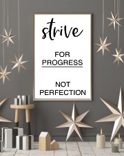 Strive for progress not perfection 2 24x36 Poster lifestyle-holiday-poster-1