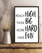 reach high think big work hard have fun 24x36 Poster lifestyle-poster-3