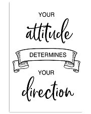 your attitude determines your direction 2 24x36 Poster front
