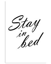 Stay in bed 24x36 Poster front