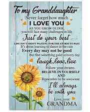 To my Granddaughter 24x36 Poster front