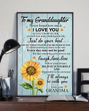 To my Granddaughter 24x36 Poster lifestyle-poster-2