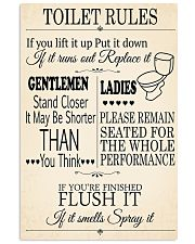 TOILET RULES 24x36 Poster front