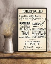 TOILET RULES 24x36 Poster lifestyle-poster-3