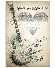 Should I Stay Or Should I Go 24x36 Poster front
