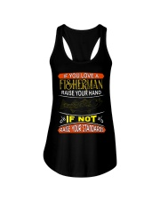If you love a fisherman raise your hand Ladies Flowy Tank thumbnail