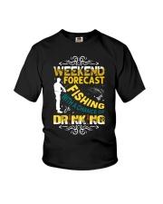 Weekend forecast fishing Youth T-Shirt thumbnail