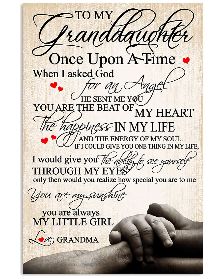 To my granddaughter 24x36 Poster