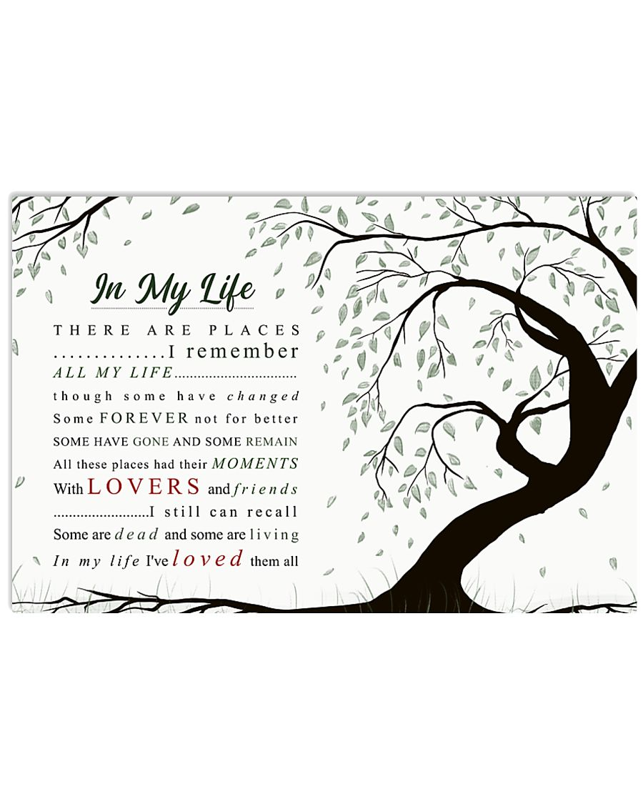 In My Life 36x24 Poster
