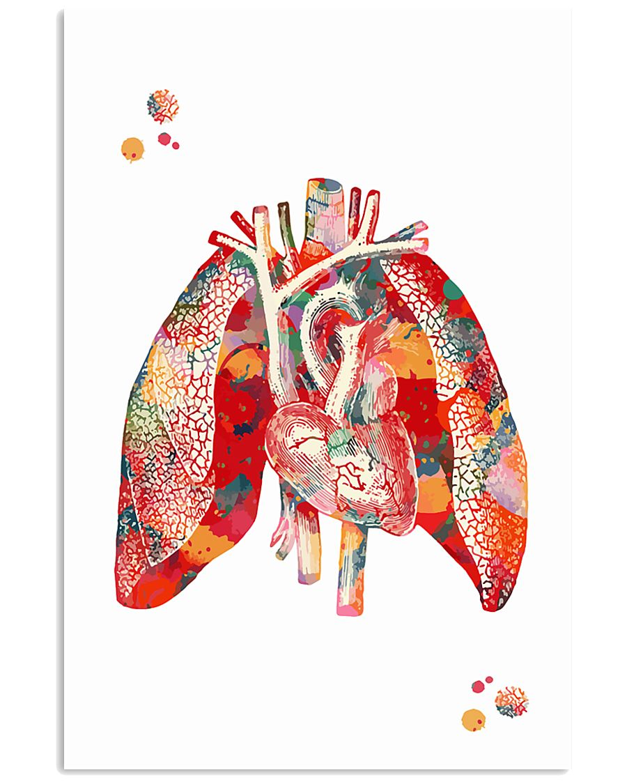 Heart and Lungs 24x36 Poster