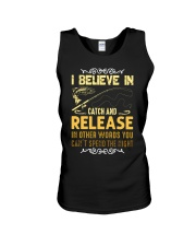 I believe in catch and release Unisex Tank thumbnail