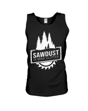 Sawdust is man glitte Unisex Tank thumbnail