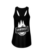 Sawdust is man glitte Ladies Flowy Tank thumbnail
