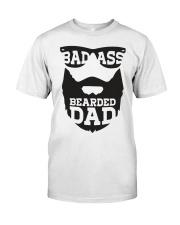 Badass beared dad Classic T-Shirt front