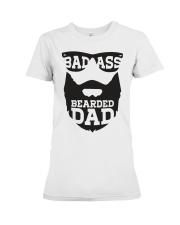 Badass beared dad Premium Fit Ladies Tee thumbnail