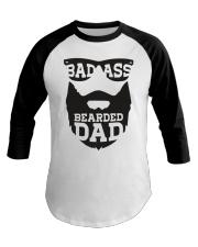 Badass beared dad Baseball Tee thumbnail