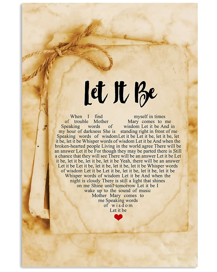 Let It Be 24x36 Poster