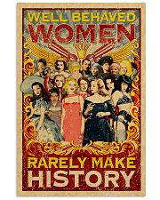 Well behaved woman 24x36 Poster front