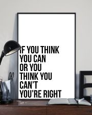 Ì YOU THINK YOU CAN OR YOU THINK YOU CANT 24x36 Poster lifestyle-poster-2