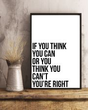Ì YOU THINK YOU CAN OR YOU THINK YOU CANT 24x36 Poster lifestyle-poster-3