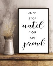 don't stop until you are proud 24x36 Poster lifestyle-poster-3