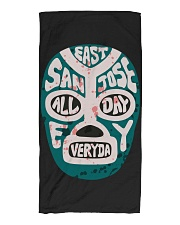 EAST SAN JOSE BIGGO BEACH TOWEL Lucha Sharks Teal Beach Towel front