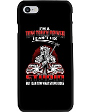 TOW TRUCK DRIVER CAN'T TOW STUPID Phone Case thumbnail