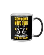 SLOW DOWN MOVE OVER FOR TOW OPS Color Changing Mug thumbnail