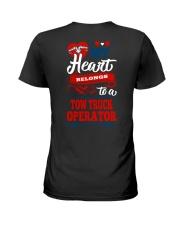 MY BELONGS TO A TOW TRUCK OPERATOR Ladies T-Shirt thumbnail