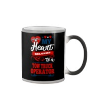 MY BELONGS TO A TOW TRUCK OPERATOR Color Changing Mug thumbnail