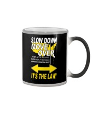 SLOW DOWN MOVE OVER IT'S THE LAW - US Color Changing Mug thumbnail