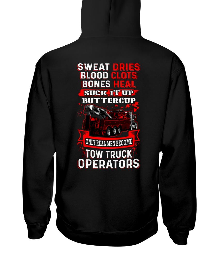 Real Men - Heavy Tow Truck Hooded Sweatshirt