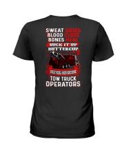 Real Men - Heavy Tow Truck Ladies T-Shirt thumbnail