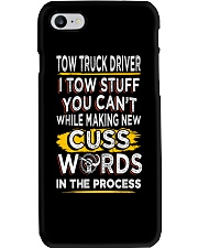 TOW TRUCK DRIVER WORDS IN PROCESS Phone Case thumbnail