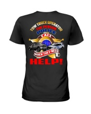 TOW TRUCK OPERATOR SUPPORTING LAW ENFORCEMENT Ladies T-Shirt thumbnail